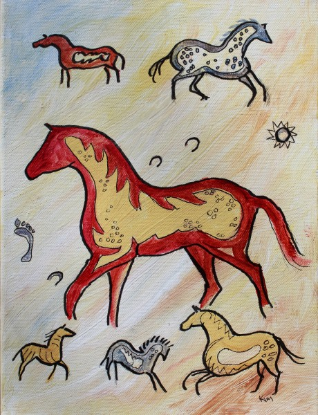Horse Part Cave painting